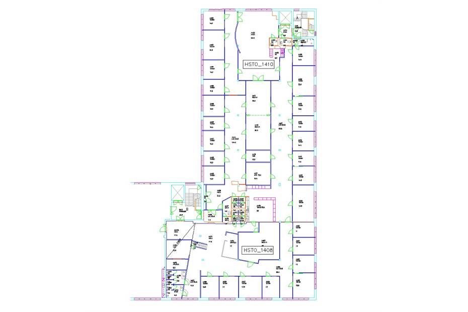 Kiviaidankatu 2 1170,5 m2, 4. krs. ab-raput