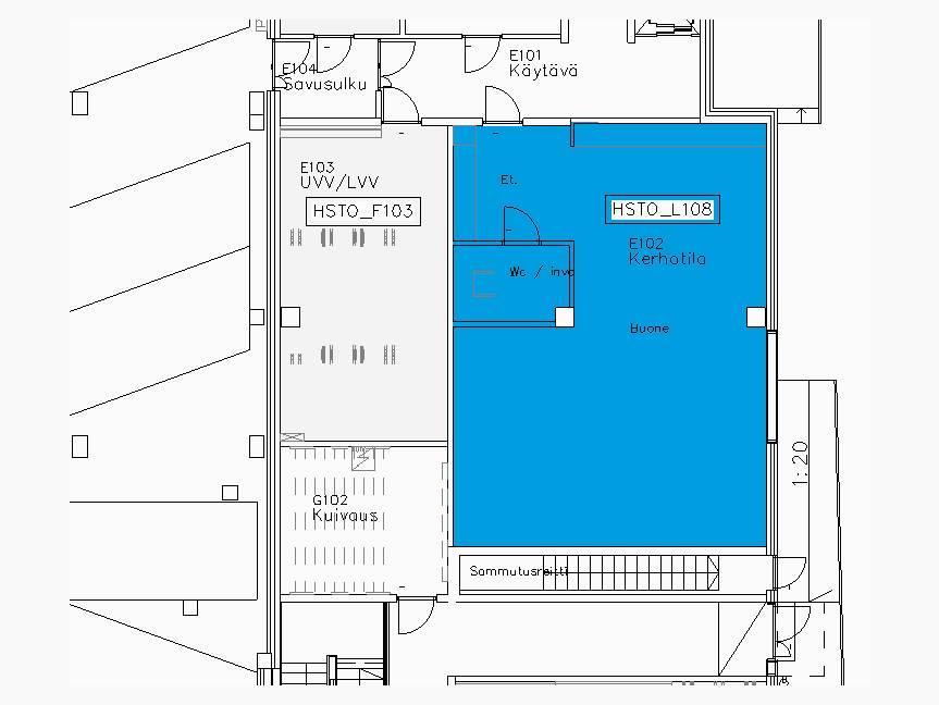 Vanhanlinnantie 3,Hki  86,5m2 1.krs Kerhotila