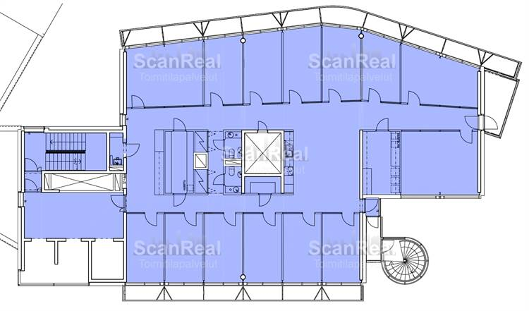 Planlösning Itämerentori 2 Ruoholahti
