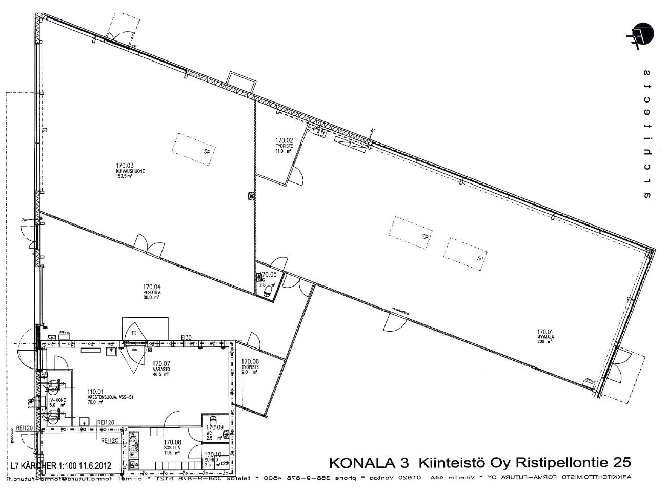 Planlösning Ristipellontie 25 Konala