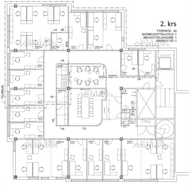 Planlösning Mannerheimintie 170 Pikku-Huopalahti