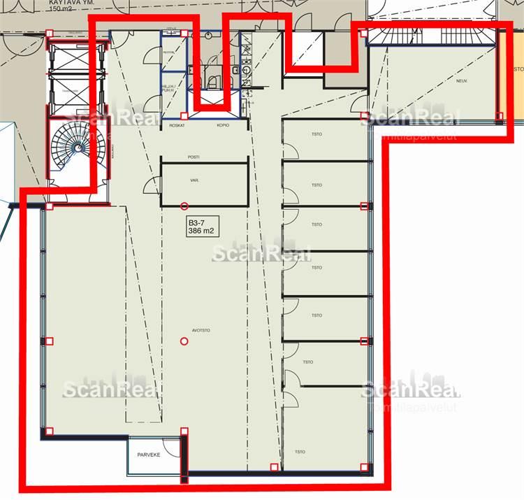 Planlösning Linnoitustie 4 Leppävaara