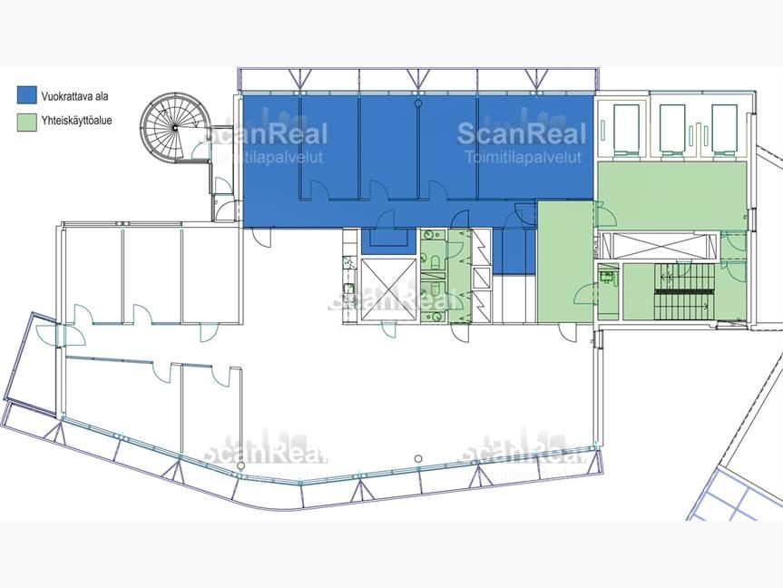 124 m2 (voidaan muuntaa avotilaksi)