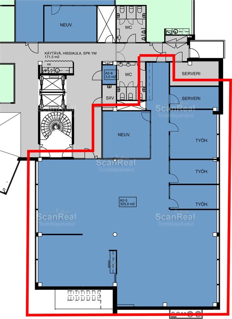 Planlösning Linnoitustie 2-4 Leppävaara