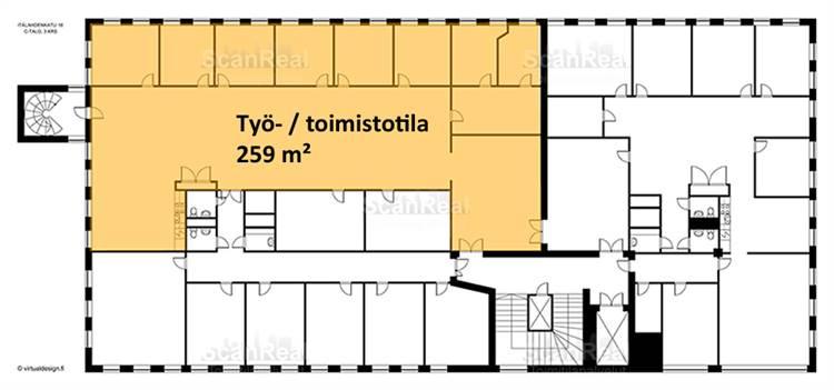 Planlösning Itälahdenkatu 18 Lauttasaari