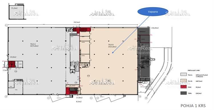 Planlösning Hankasuontie 3 Konala