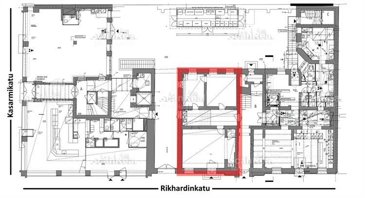 Planlösning Rikhardinkatu 2 Kaartinkaupunki