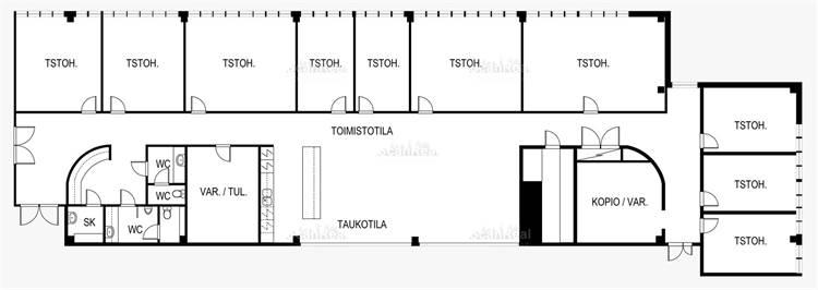 Planlösning Tietäjäntie 14 Pohjois-Tapiola