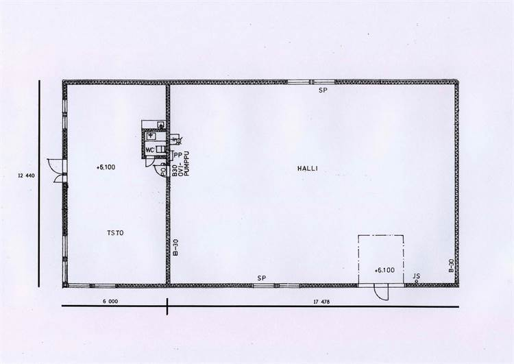 Planlösning Hiojankuja 2b Vanttilan teollisuusalue
