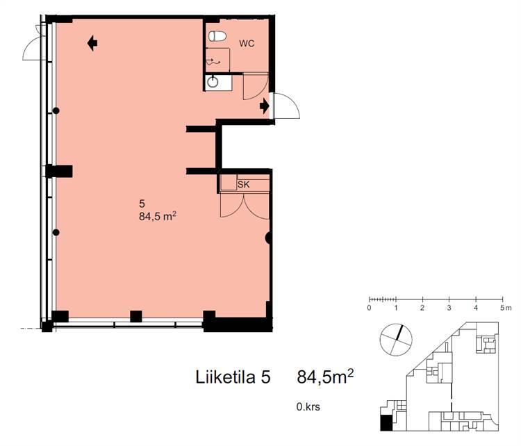 Planlösning Kirkkojärventie 10 C Espoon keskus