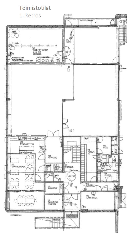 1. kerroksen toimistotilat