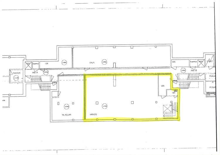 Planlösning Kirkkokatu 63-65 Heinäpää