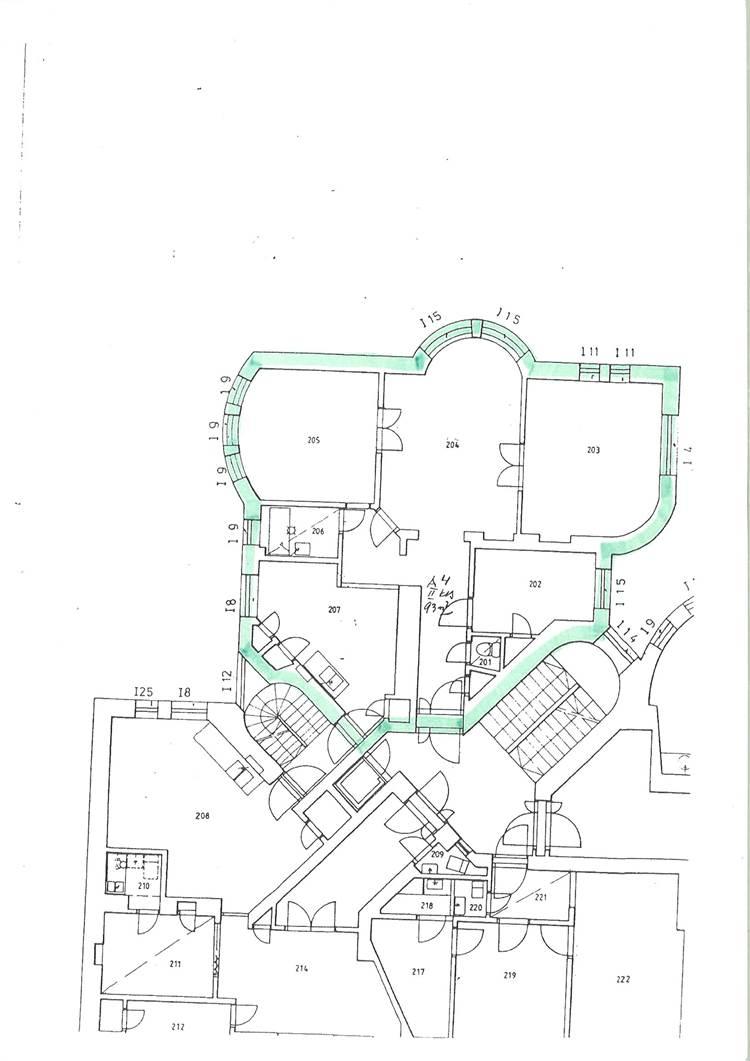 Planlösning Pakkahuoneenkatu 15 A4 Keskusta