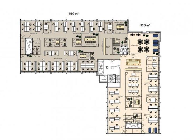 1131 m2 jaettu kahteen osaan