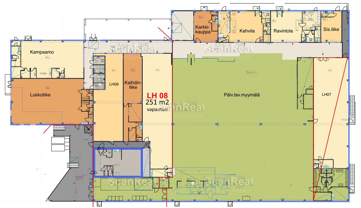 Planlösning Kuriiritie 23-25 Koivuhaka