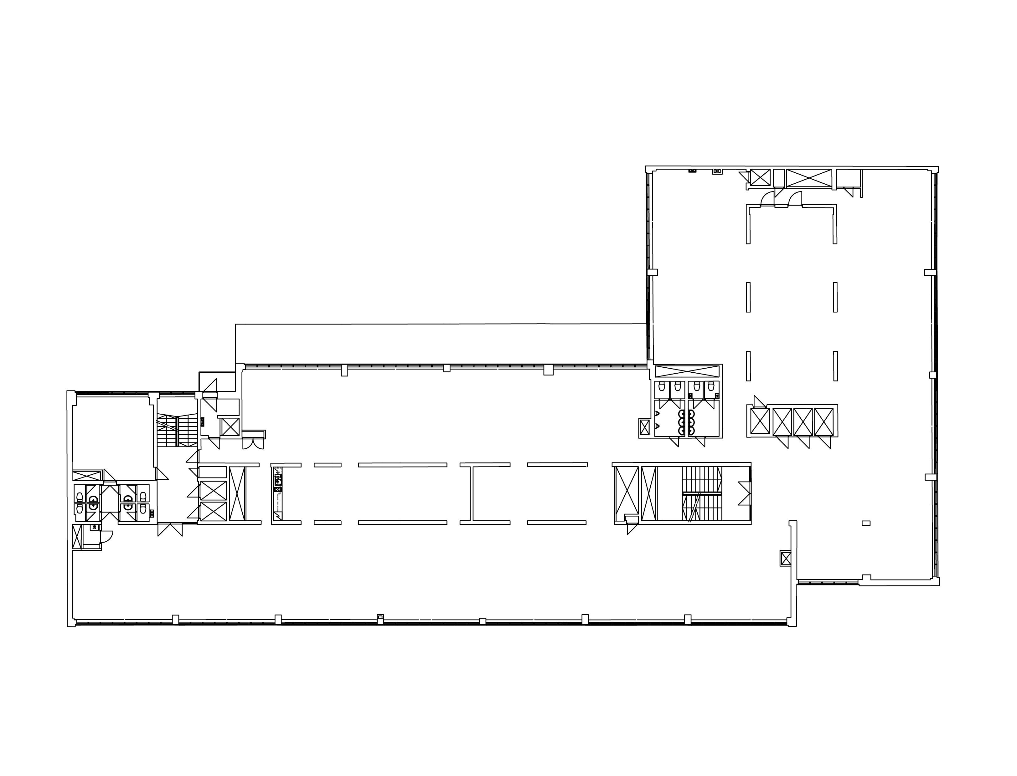 Bulevardi 21 pohjakuva. Pinta-alat tullaan tarkistusmittaamaan vuokrauksen yhteydessä