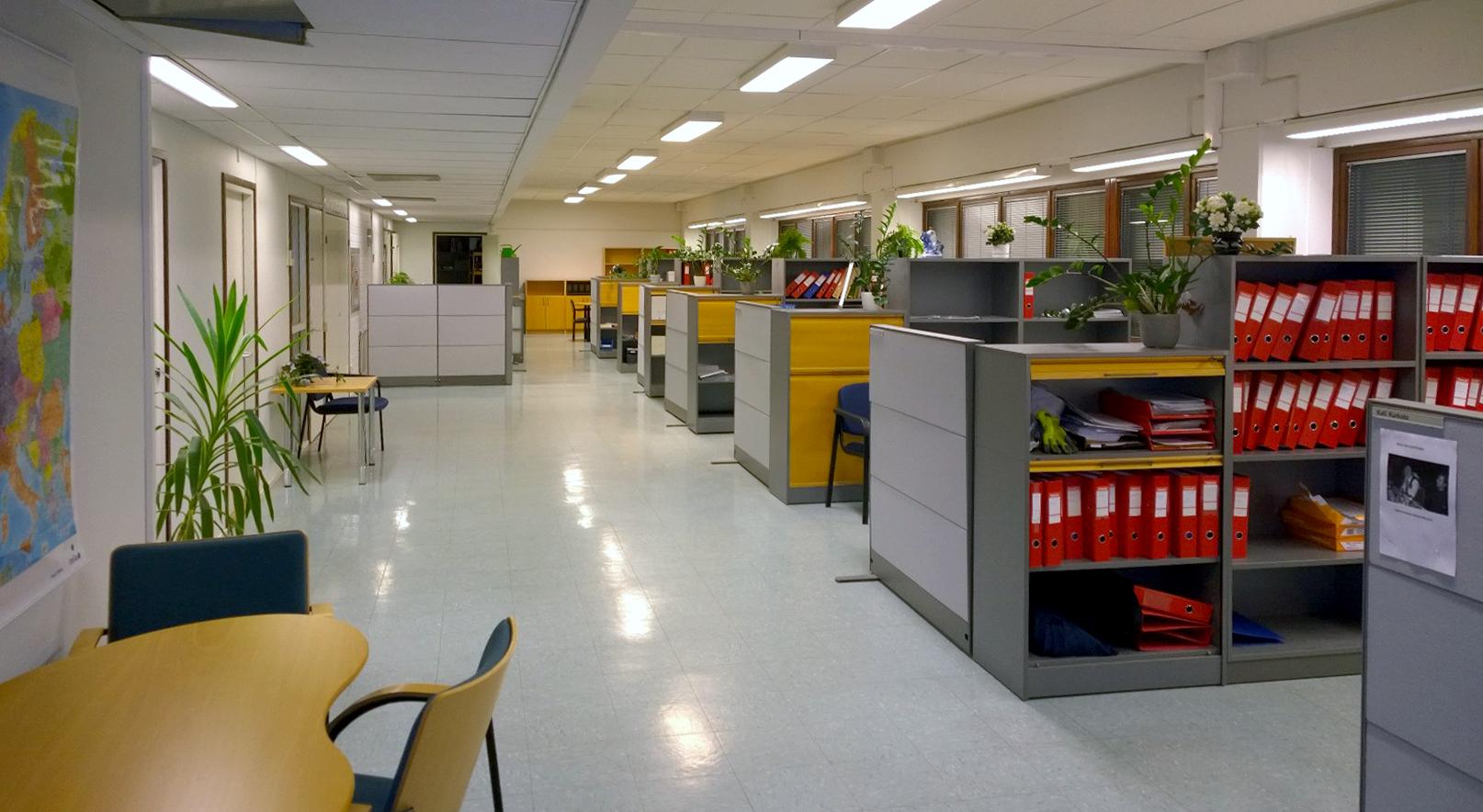 2. kerroksen toimistotiloja