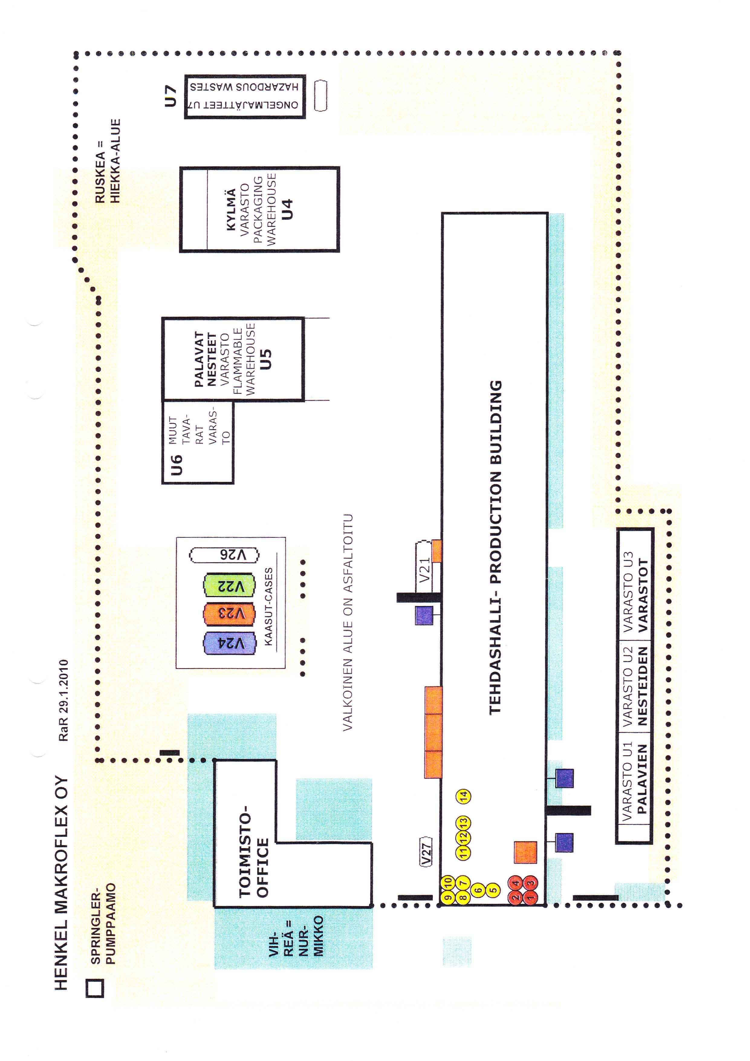Kaavio rakennuksista
