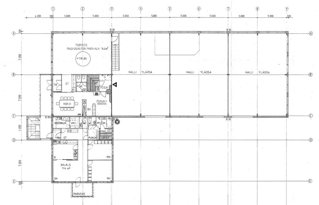 Planlösning Yrittäjäntie 18 Kankaanmaan teollisuusalue